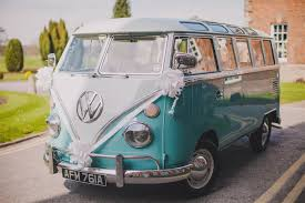 blue volkswagen van a palette of blue u0026 yellow for a spring 1960s inspired wedding