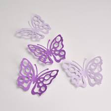 Butterfly Wall Decals For Nursery by 16 Purple And Lilac Butterfly Party Decoration Butterfly Wall