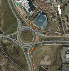 Dublin Ohio Map by Dublin Ohio Usa S R 161 Riverside Drive Roundabout Overnight