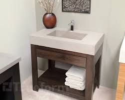 Cement Bathroom Sink - perfect example of how concrete can