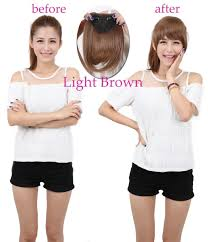 Human Hair Fringe Extensions by Real Natural Hair Extension Clip In Front Hair Bangs Fringe Human