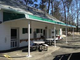 patio green and white aluminum patio cover kits with white small