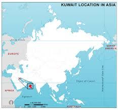 kuwait on a map kuwait location map in kuwait location in location