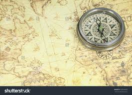Old World Map Compass On Old World Map Stock Photo 322649435 Shutterstock