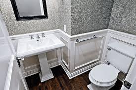 Kohler Stately Pedestal Sink Traditional Powder Room With Hardwood Floors By 24 Design