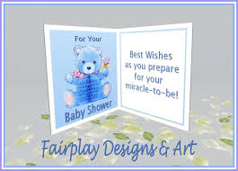 second marketplace fda best wishes baby shower card boy