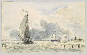 dutch fishing boats verso sketches of boats johan barthold
