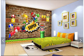 Children S Living Room Furniture by Aliexpress Com Buy Custom Children Wallpaper Super Mary 3d