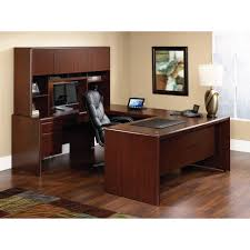 Executive Office Furniture Suites Sauder Cornerstone Executive Desk In Classic Cherry Walmart Com