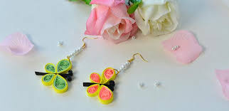 paper ear rings how to make quilling paper butterfly dangle earrings with pearl