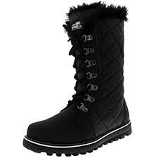 womens boots quilted amazon com polar products womens quilted comfy winter warm