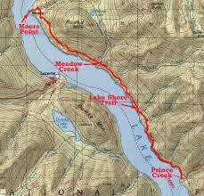Chelan Washington Map by Footloose On The Trail Lake Chelan Lake Shore Trail