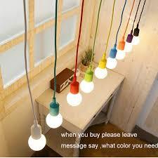 Living Room Pendant Lights Modern Pendant Lamps For Bedroom Colourful Fashional Silica Gel