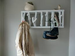 wall tree branch coat rack with shelf design idea decofurnish