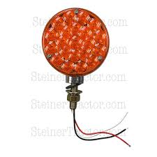 Red Light Fixture by Universal 12 Volt Led Fender U0026 Cab Warning Light Amber U0026 Red Abc3538