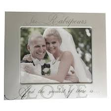 personalized wedding photo frame personalized wedding frame the catholic company