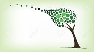 green tree blowing in the wind royalty free cliparts vectors and