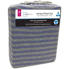 mainstays jersey knit sheet set walmart com