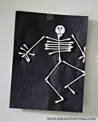Skeleton Halloween Crafts Polish The Stars Halloween Kids Crafts Mother Daughter Fun