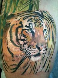 tiger tattoo by cartel ink works