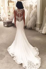 lace mermaid wedding dress gorgeous lace appliques mermaid wedding dress button back