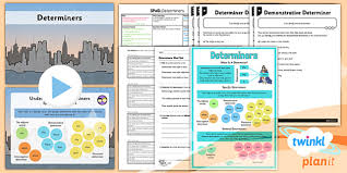 planit y4 spag lesson pack determiners gps spelling