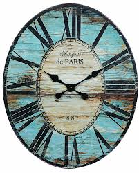 amazon com creative co op antiquite de paris wood oval wall clock