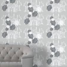 rosey glow dark grey wallpaper atadesignsatadesigns