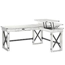 White L Shape Desk Ameriwood Wildwood L Shaped Desk With Lift Top Distressed