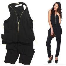 zipper jumpsuit 38 san black jumpsuit with zipper front from shop