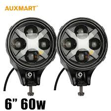 Led Driving Lights Automotive Auxmart 6 Inch Led Fog Light 60w Round Led Driving Light 12v 24v