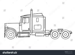 semi truck sleepers old semi truck sleeper towing engine stock vector 547441822