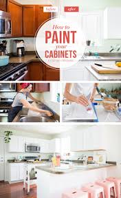 how to paint your kitchen cabinets so it looks like you totally