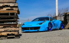 Ferrari 458 Light Blue - ferrari 458 spider in bugatti blue desktop wallpaper ferrari 458