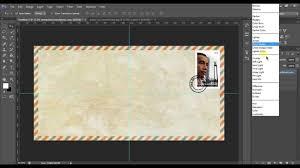 membuat efek stempel dengan photoshop membuat lop air mail dengan perangko dan cap stempel menggunakan