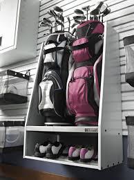 Garage Golf Bag Organizer - gladiator gawuxxgfzw golf caddy 45 inch white amazon com