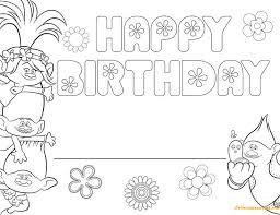 happy birthday coloring page crayola photo free trolls happy
