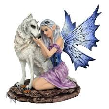 nemesis now nadine enchanted with wolf ornament figurine