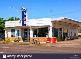 greyhound bus station in downtown corpus christi texas stock photo
