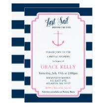 nautical bridal shower invitations nautical bridal shower invitations announcements zazzle