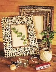 cornici fatte a mano decorazione originale con rondelle di legno 20 esempi di