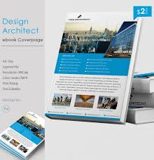 rich design architect a4 ebook cover page template free
