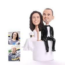 custom bobbleheads cake topper for weddings
