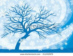 winter tree snowflakes stock illustration 211222879
