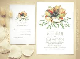 colorful watercolor flower wedding invitation need wedding idea