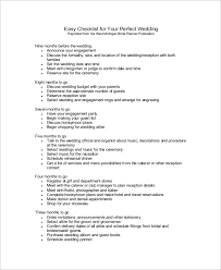 complete wedding checklist printable wedding checklist sle 10 exles in pdf
