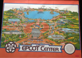 Disney World Epcot Map 1982 Epcot Center Map My New Wall Art Waltdisneyworld
