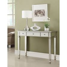 mirage mirrored 2 drawer console table hayneedle