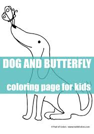 happy dog coloring kids trail colors