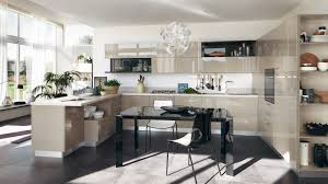 Gloss Kitchen Cabinets by Mink Gloss White Modern Open Kitcen Design Feats Mink Gloss